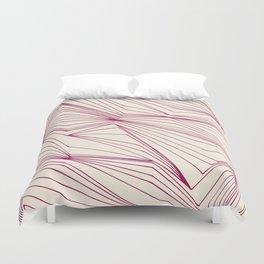 Zig Zag Lines Pink Duvet Cover