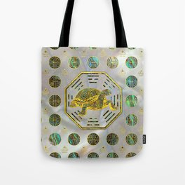 Golden Tortoise / Turtle Feng Shui Abalone Shell Tote Bag