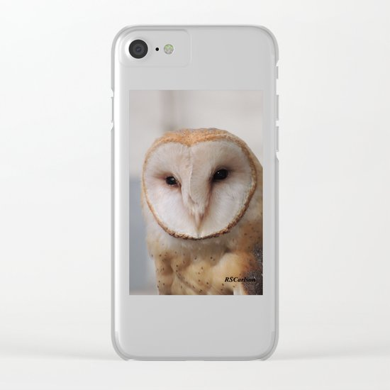 Barn Owl on Alert Clear iPhone Case