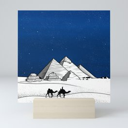 The pyramids of Giza Mini Art Print