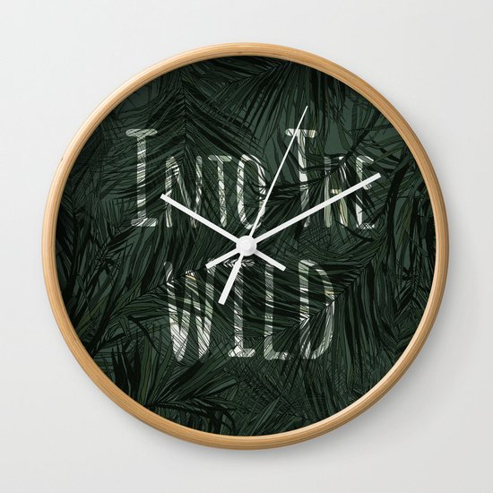 into the wild *palms Wall Clock
