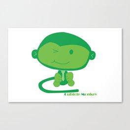 Cubicle Monkey Canvas Print
