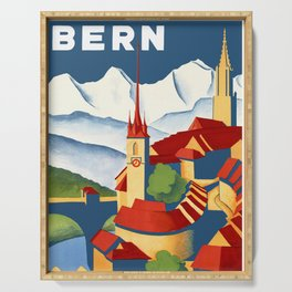 Vintage Bern Switzerland Travel Serving Tray