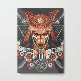 Samurai Warrior Mask, Bushido Metal Print