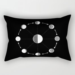 Moon Phases Rectangular Pillow