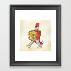 López, bass drum Framed Art Print