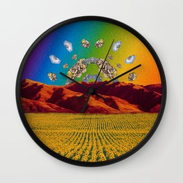 Crystal Sunset 1 Wall Clock