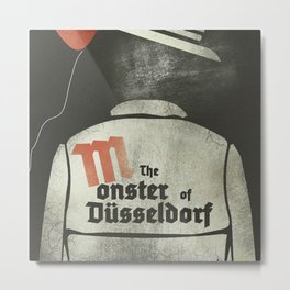 Fritz Lang, M The monster of Düsseldorf, Peter Lorre, minimalist movie, thriller, German film Metal Print