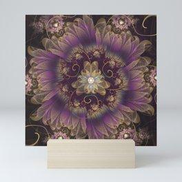 Bohemian Ruffled Feathers & Lavender Gypsy Flowers Mini Art Print
