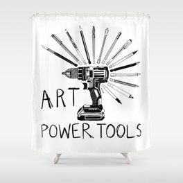 Art Power Tools Shower Curtain