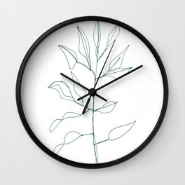 One line plant Wall Clock