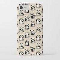 pandas iPhone & iPod Cases featuring Pandas by Olya Yang