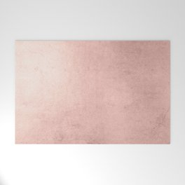 Blush Rose Gold Ombre Welcome Mat