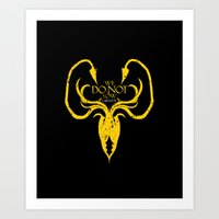 westeros Art Prints featuring Greyjoy by Passion Grows Within
