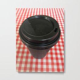 Black Coffee Cup Metal Print