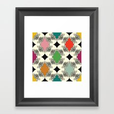 Moroccan Rose Motif Framed Art Print