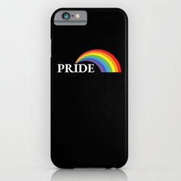 LGBT More Love Less Hate Gay Pride iPhone Case