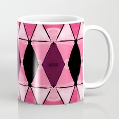 Art Deco Triangles Hot Pink Coffee Mug