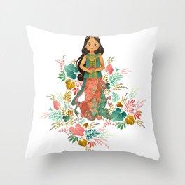 The Sundanese Goddess of Rice and Prosperity Throw Pillow