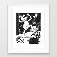 kermit Framed Art Prints featuring Communist Kermit by Jada McGill
