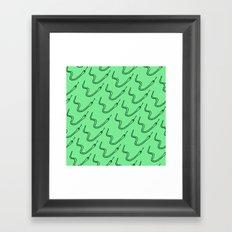 Snake in the grass Framed Art Print