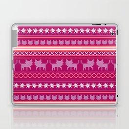 Ugly Christmas Cat Sweater Laptop & iPad Skin