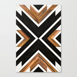 Urban Tribal Pattern 1 - Concrete and Wood Canvas Print
