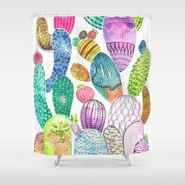 Cactus King Shower Curtain