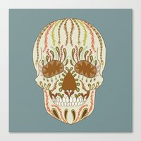calavera Canvas Prints featuring CALAVERA by Nora