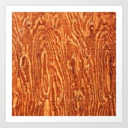 Walnut Wood Art Print