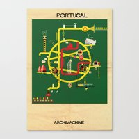 portugal Canvas Prints featuring Portugal by federico babina