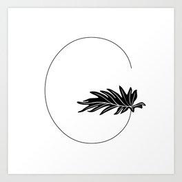 Palm G Art Print