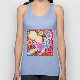 Pop Art Colour Circles Unisex Tank Top