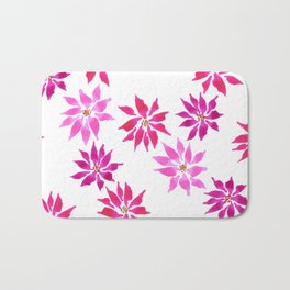 Bright Winter Flowers Bath Mat