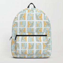 Memphis Style Geometric Abstract Seamless Vector Pattern Backpack