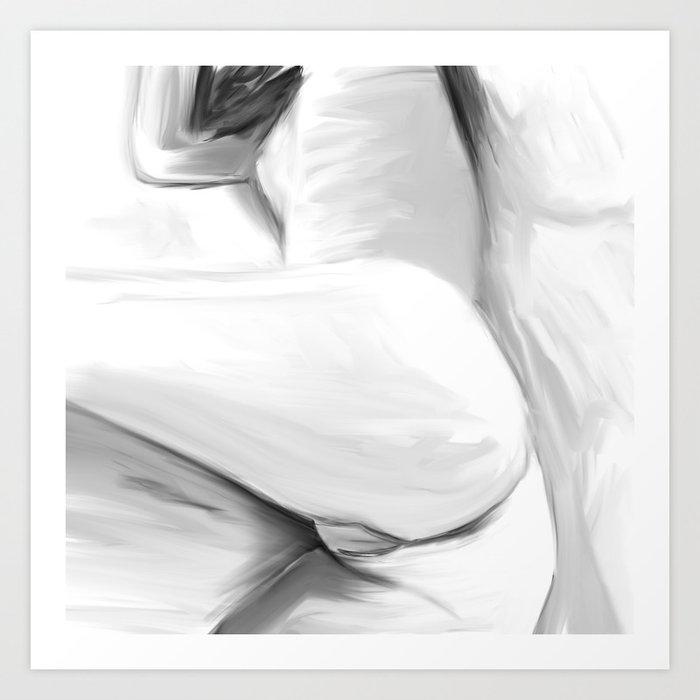 Sexy Body Art Print By Alexanderchalooupka