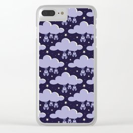Dreaming bats Clear iPhone Case