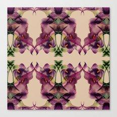 Purple lilies pattern Canvas Print