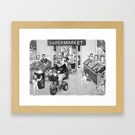 Outside the Supermarket Framed Art Print