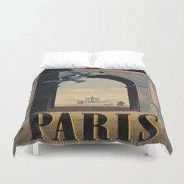 Vintage poster - Paris Duvet Cover