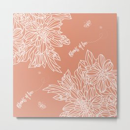 Blooms of Love_Melon Metal Print