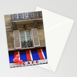 Red Balloons at Café Bonaparte Stationery Cards