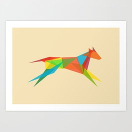 Fractal Geometric Dog Art Print