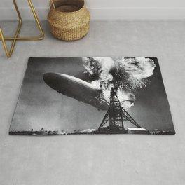 Hindenburg Disaster Photo Rug