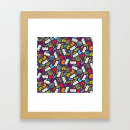 So Many Colorful Book... Framed Art Print