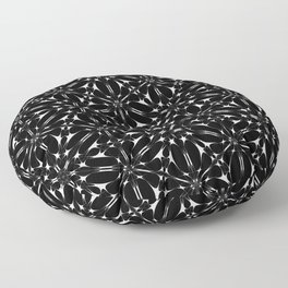Kat Scratch • Black & White mosaic Floor Pillow