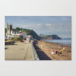 Teignmouth Promenade  Canvas Print