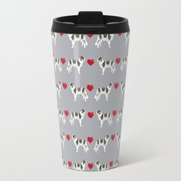 Border Collie love hearts dog breed gifts collies herding dogs pet friendly Travel Mug