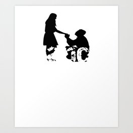 Engaged Fiance Newly Engaged Gift Art Print