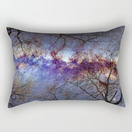 Fantasy stars. Milkyway through the trees. Rectangular Pillow